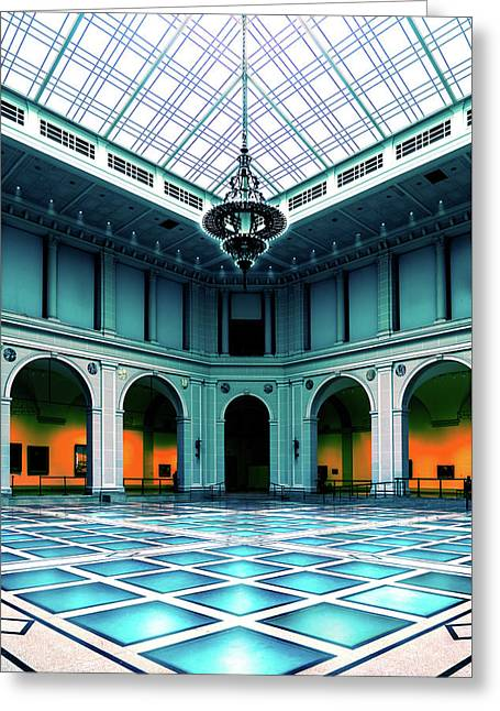 Greeting Card featuring the photograph The Beaux-arts Court by Chris Lord