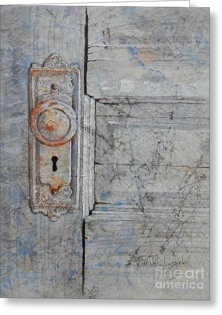 The Bedroom Door Greeting Card by Sarah Luginbill
