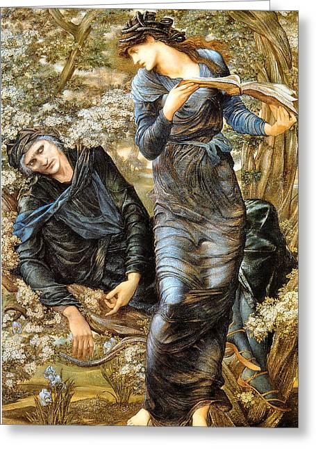 The Beguiling Of Merlin 1874 Greeting Card by Edward Burne Jones 1833 - 1898 - Joy of Life Art Gallery