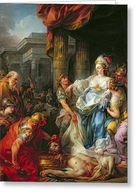 The Beheading Of Cyrus IIi Greeting Card by Jean Simon Berthelemy