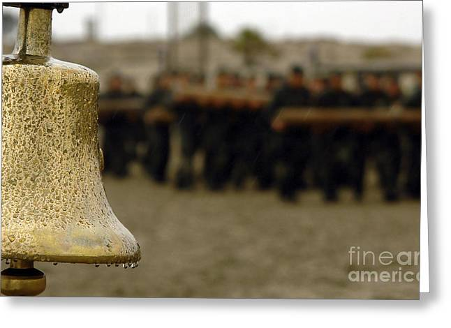 Navy Seals Greeting Cards - The Bell Is Present On The Beach Greeting Card by Stocktrek Images