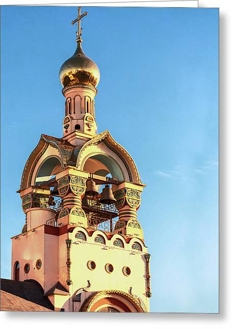 The Bell Tower Of The Temple Of Grand Duke Vladimir Greeting Card