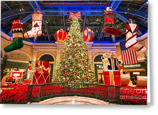 The Bellagio Christmas Tree 2015 Greeting Card
