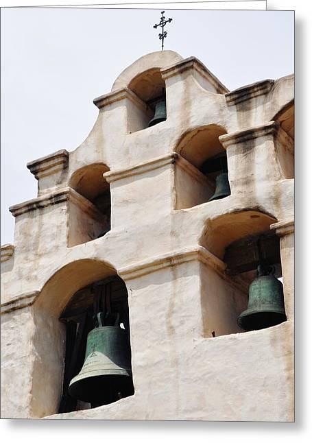 The Bells Of Mission San Gabriel Arcangel Portrait Greeting Card
