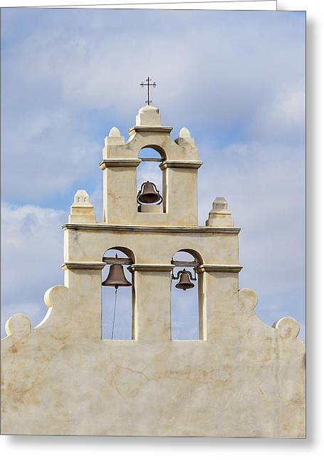 Greeting Card featuring the photograph The Bells Of San Juan by Mary Jo Allen
