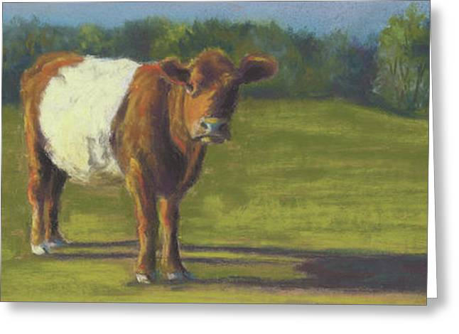 The Belted Cow Greeting Card by Terri  Meyer