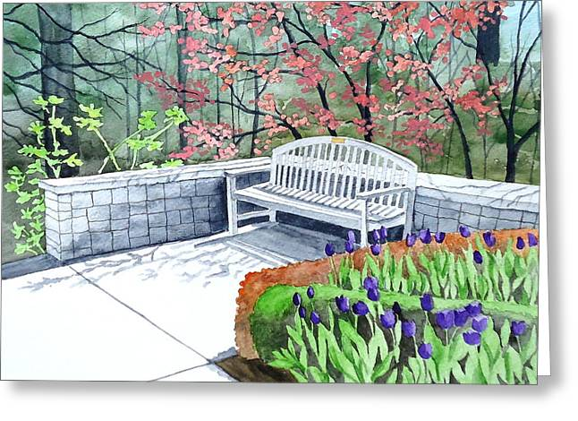 The Bench Awaits - Mill Creek Park Greeting Card