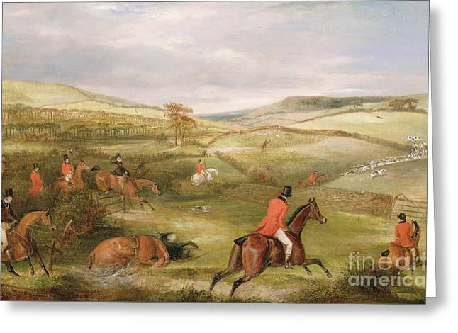 The Berkeley Hunt, 1842 The Chase  Greeting Card by Francis Calcraft Turner
