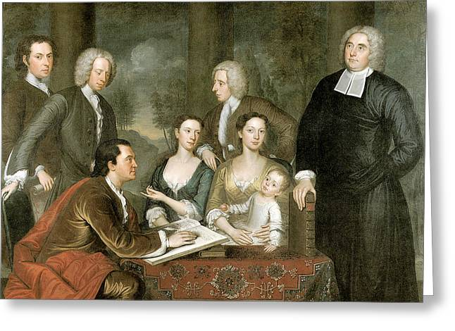 The Bermuda Group Dean George Berkeley And His Family Greeting Card by John Smibert