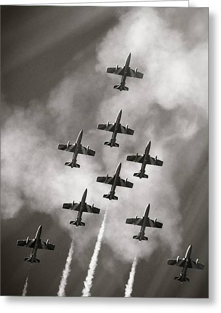 The Best Aerobatic Team Greeting Card by Stefano Senise