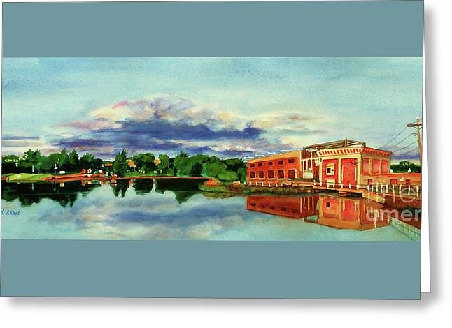 The Best Dam Town In Minnesota Greeting Card by Kathy Braud
