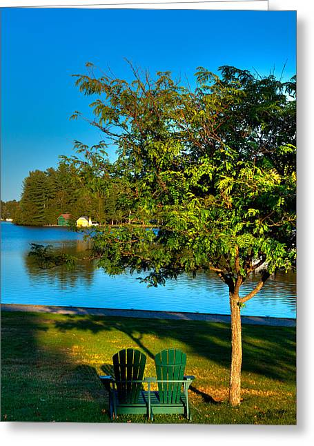The Best Spot On Old Forge Pond Greeting Card by David Patterson