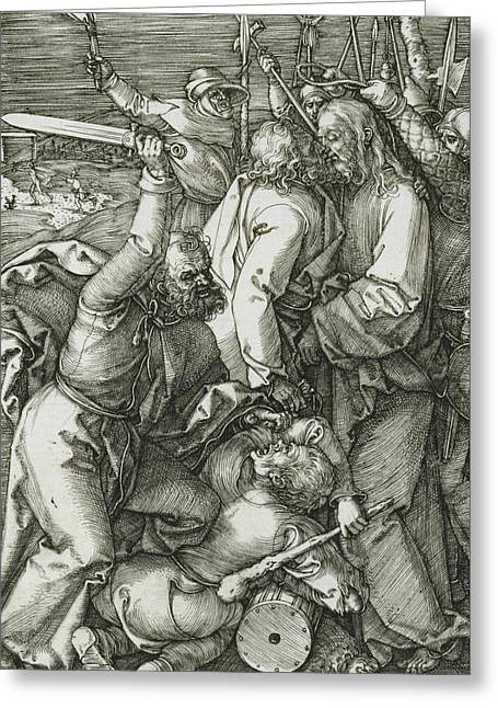 The Betrayal Of Christ Greeting Card by Albrecht Durer