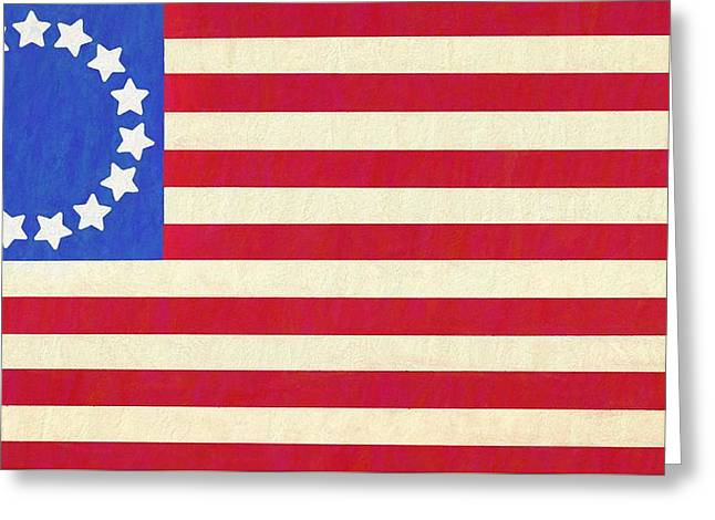 The Betsy Ross Flag Greeting Card by Dan Sproul