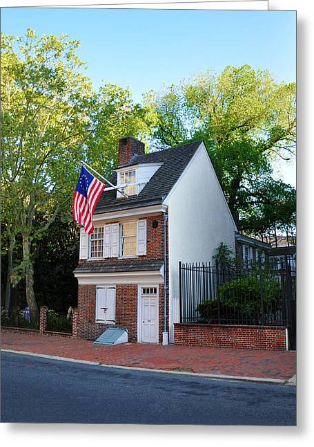 The Betsy Ross House Philadelphia Greeting Card by Bill Cannon