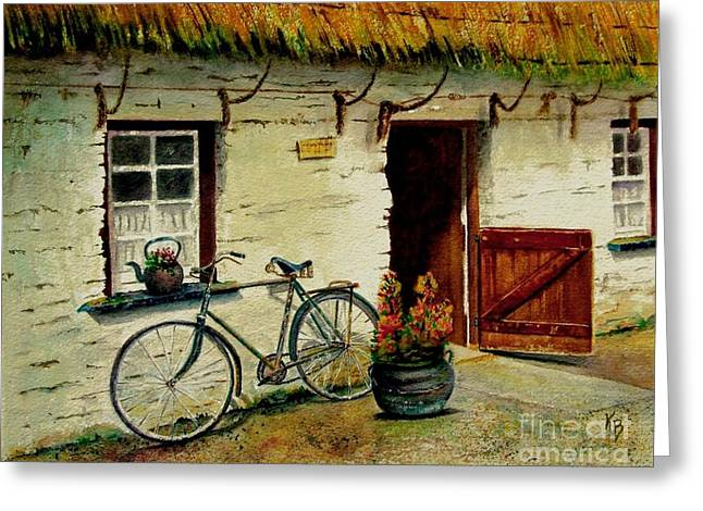 The Bicycle Greeting Card by Karen Fleschler