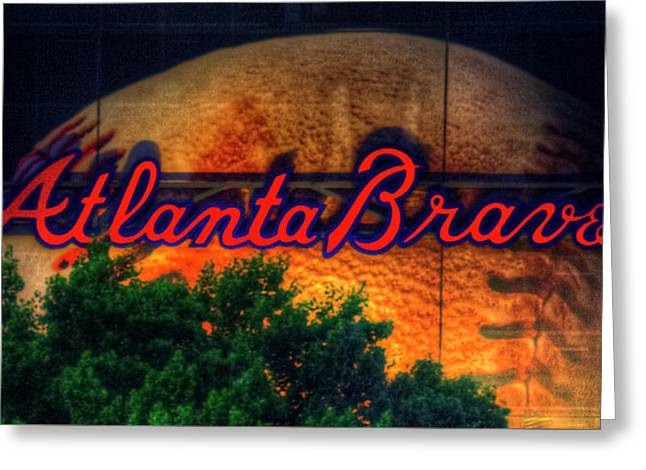 The Big Ball Atlanta Braves Baseball Signage Art Greeting Card