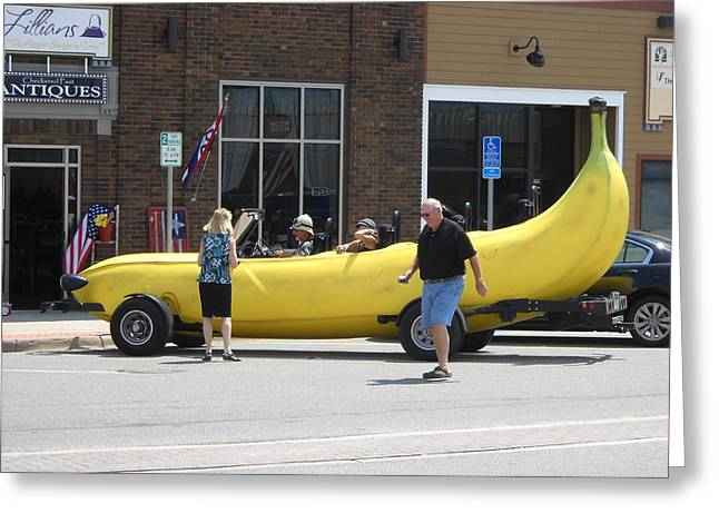 The Big Banana Car Stops By Greeting Card