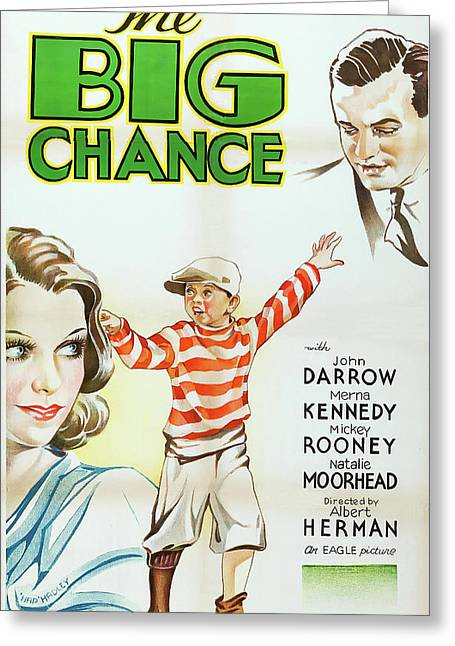 The Big Chance 1933 Greeting Card