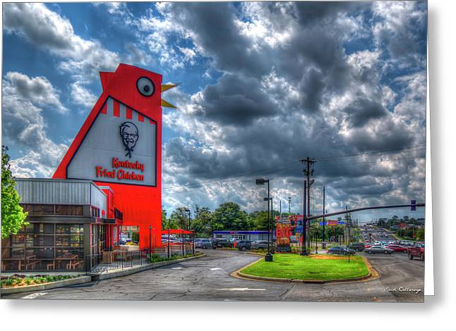The New Big Chicken Hwy 41 Cobb Parkway Art Greeting Card