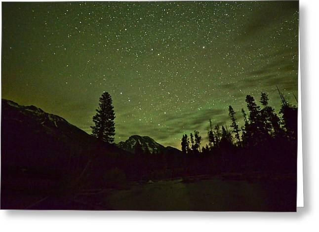 The Big Dipper Over Mount Moran Greeting Card