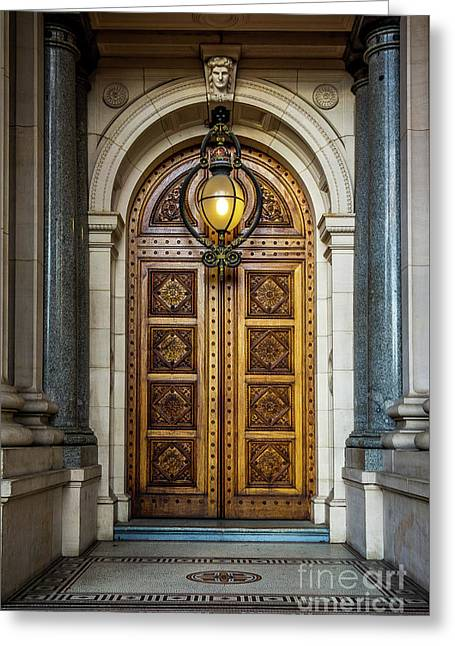 Greeting Card featuring the photograph The Big Doors by Perry Webster