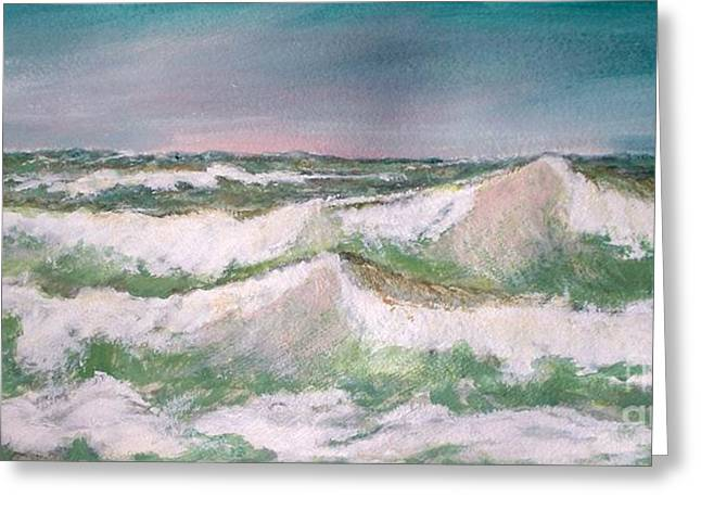 The Big Surf Greeting Card by Carol Grimes