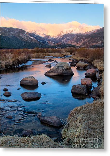 The Big Thompson River Flows Through Rocky Mountain National Par Greeting Card by Ronda Kimbrow