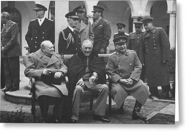 The Big Three -- Ww2 Leaders Greeting Card by War Is Hell Store