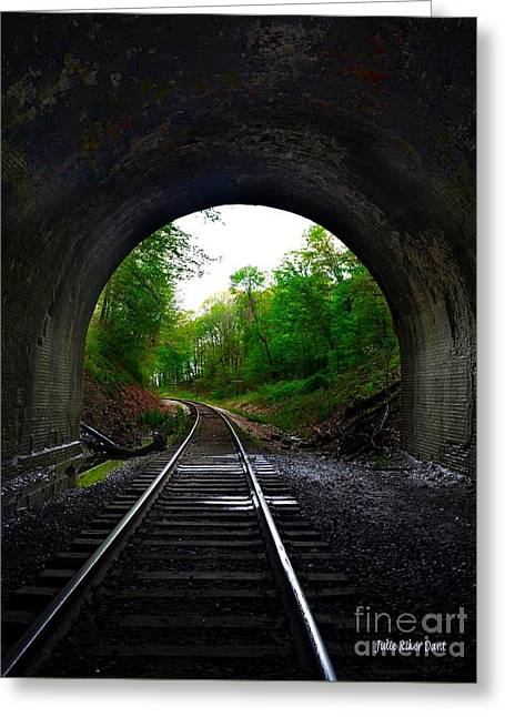 The Big Tunnel Greeting Card by Julie Dant