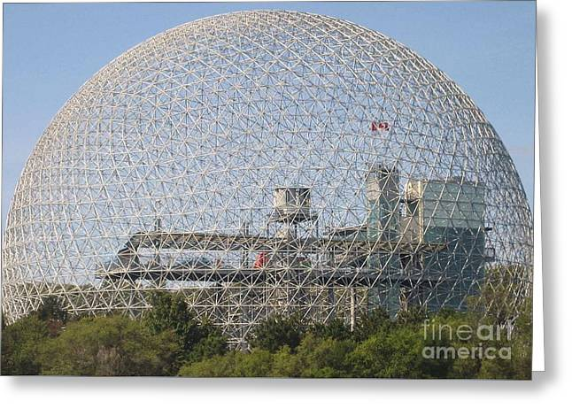 The Biosphere  Ile Sainte-helene Montreal Quebec Greeting Card