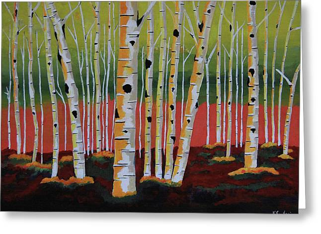 The Birch Forest - Landscape Painting Greeting Card