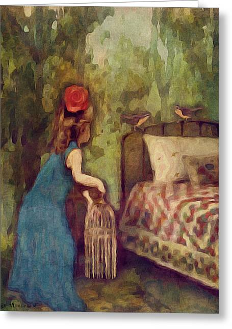 The Bird Catcher Greeting Card
