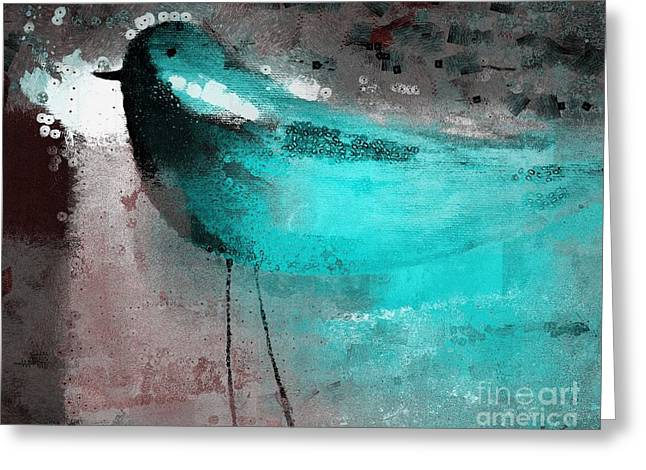 The Bird - J052143191gr Greeting Card by Variance Collections