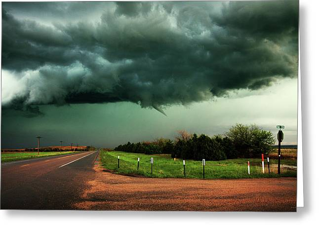 The Birth Of A Funnel Cloud Greeting Card