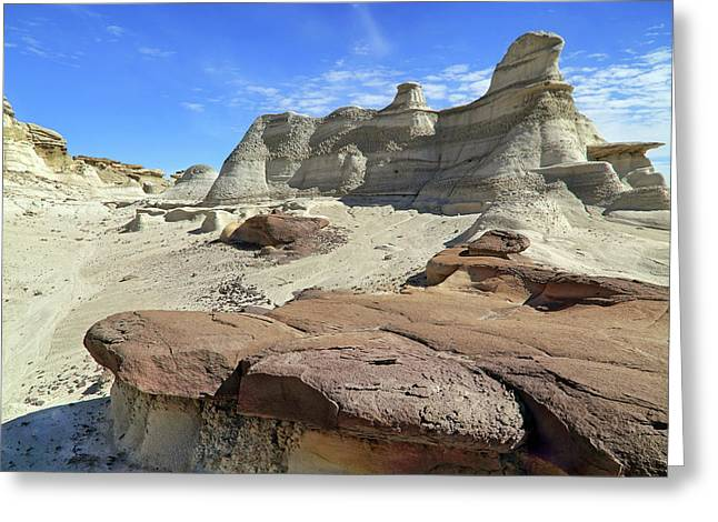 The Bisti Badlands - New Mexico - Landscape Greeting Card by Jason Politte