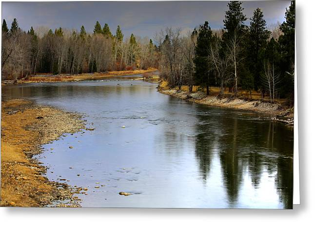 The Bitterroot River Montana Greeting Card