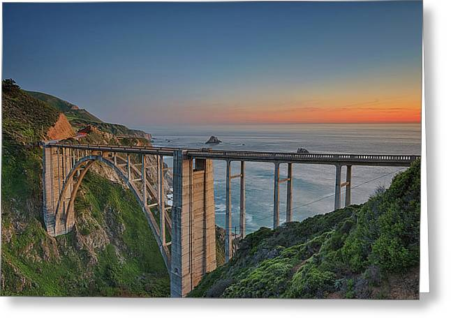 The Bixby Bridge Greeting Card by Aron Kearney