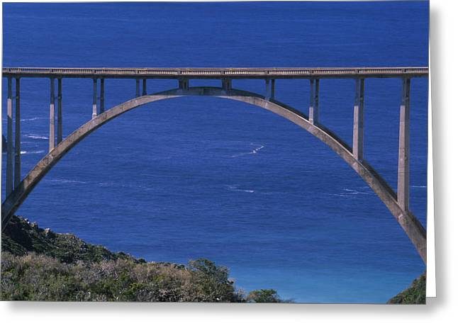 The Bixby Bridge - Hwy 1 California Greeting Card by Soli Deo Gloria Wilderness And Wildlife Photography