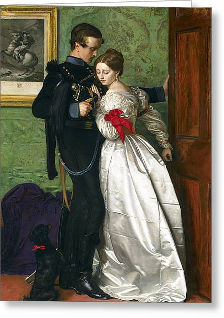The Black Brunswicker Greeting Card by Sir John Everett Millais