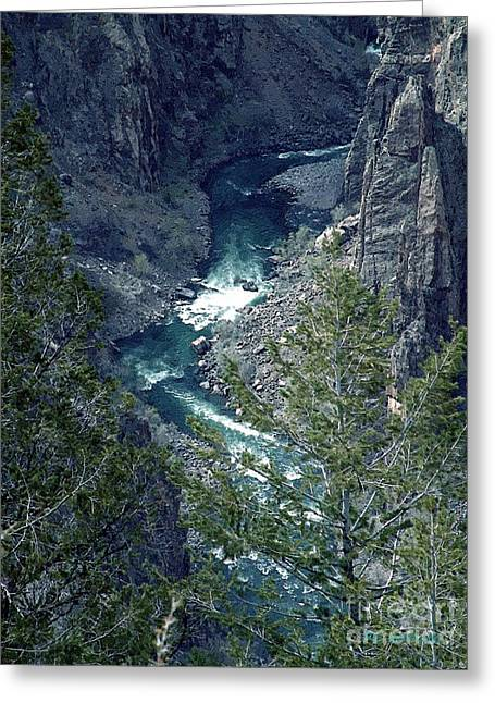 Greeting Card featuring the painting The Black Canyon Of The Gunnison by RC DeWinter
