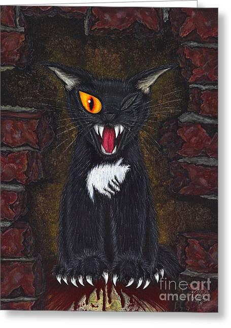 The Black Cat Edgar Allan Poe Greeting Card