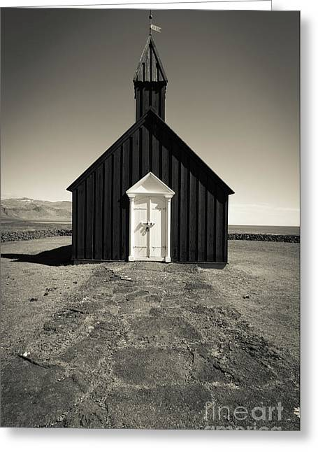 Greeting Card featuring the photograph The Black Church by Edward Fielding