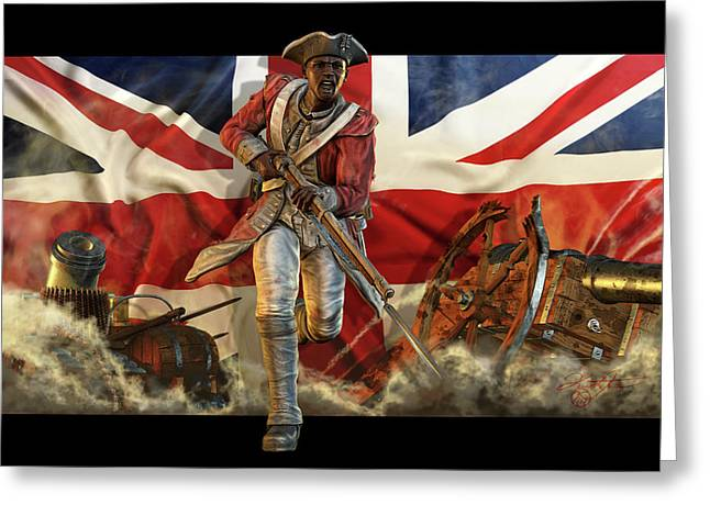 Weapon Mixed Media Greeting Cards - The Black Loyalist Greeting Card by Kurt Miller