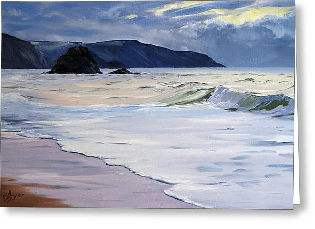The Black Rock Widemouth Bay Greeting Card
