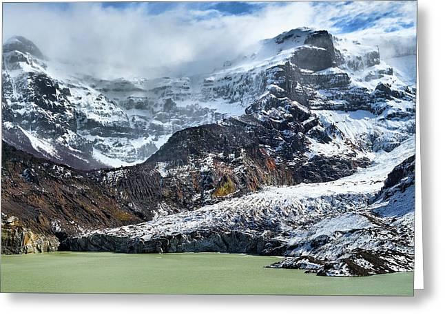 The Black Snowdrift Glacier Greeting Card