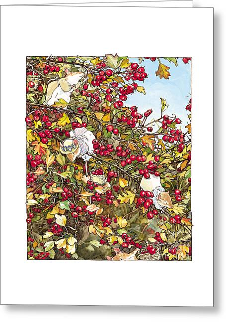The Blackthorn Bush Greeting Card by Brambly Hedge