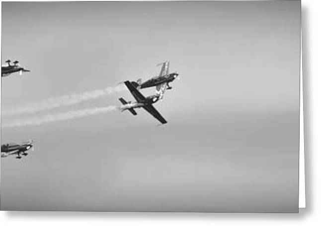 Greeting Card featuring the photograph The Blades Aerial Gymnastics Sunderland Air Show 2014 by Scott Lyons