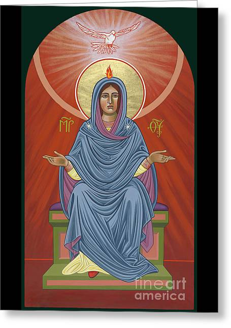 Greeting Card featuring the painting The Blessed Virgin Mary, Mother Of The Church by William Hart McNichols