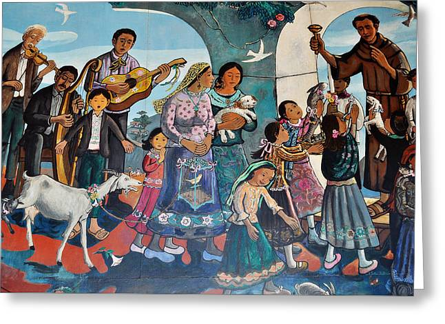 The Blessing Of Animals Olvera Street Greeting Card